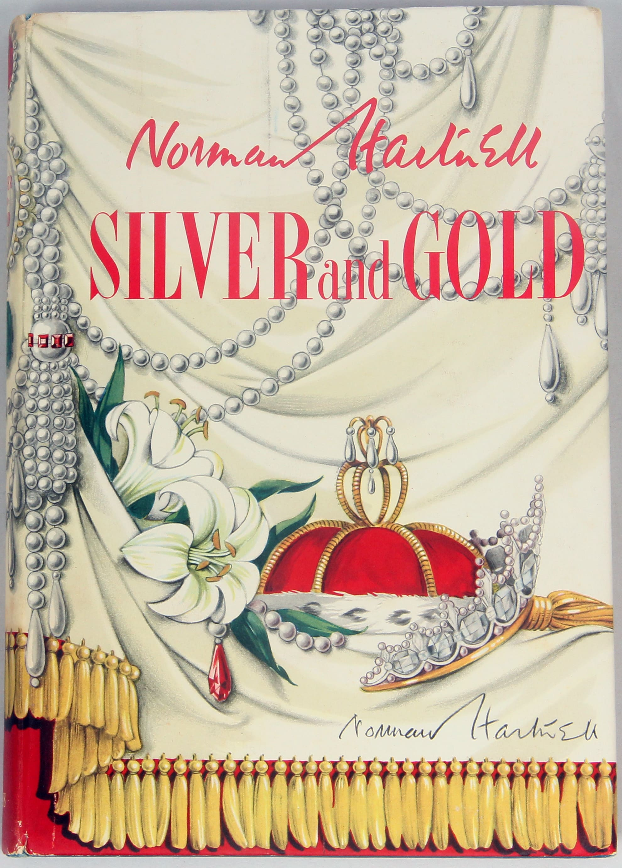 Silver And Gold Signed By Norman Hartnell
